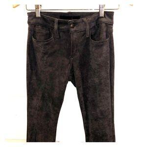 suede crop joe's jeans